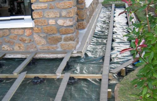 Pose des lambourdes pour terrasse en bois - 92