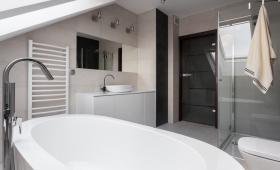 salle de bain noir et blanc - Paris